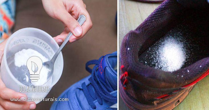 É impressionante o que acontece quando colocamos sal dentro do nosso calçado, parece impossível masresulta realmente! O sal tem imensas funções na nossa casa – uma delas é funcionar como desodorizante natural. Coloque uma colher de sopa de sal grosso dentro dos seus sapatos durante 6 horas. O salirá absorver todo o mau cheiro.    Outras utilizações do sal:   Limpeza –Use sal para esterilizar as esponjas do lava-loiças, do banho e para remover manchas de vinho. Coloque uma espessa…