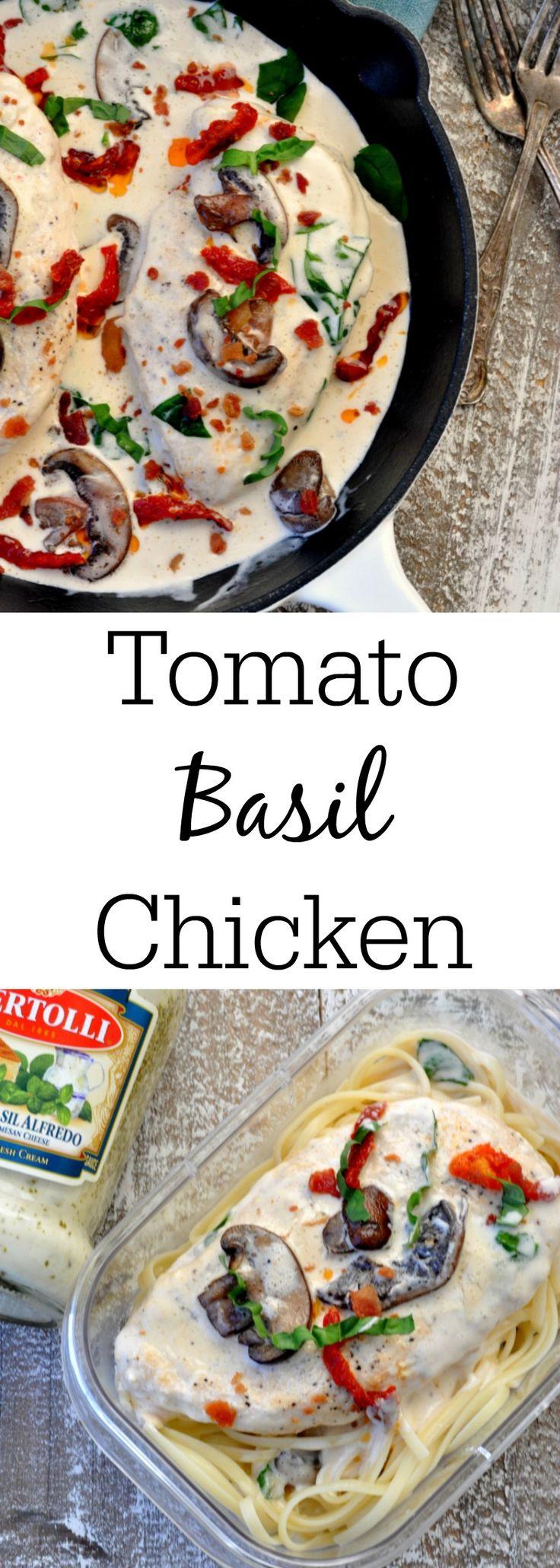 Tomato Basil Chicken Skillet #PremiumPrep #ad