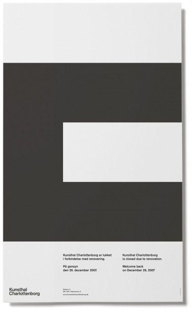 Rasmus Koch Studio : Closing for Renovation: Graphics Typography, Graphics Geek, Graphics Design Minimal, Rasmus Koch, Koch Studios, September Industrial, Posters Design, Minimal Layout Design, General Design