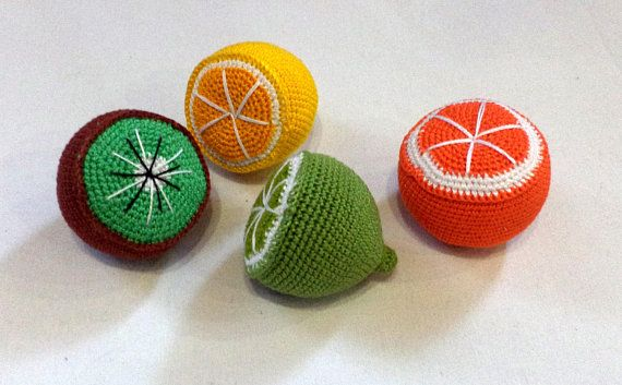 Crochet knit corn-4 Pcs-crochet play food-Crochet