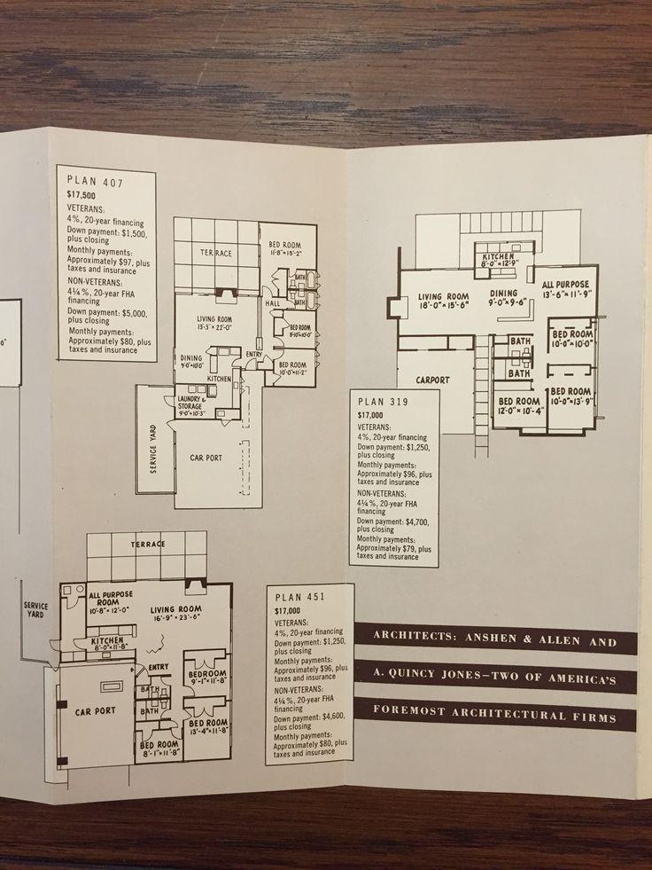 Eichler homes brochure c 1952 start living in an for Eichler flooring