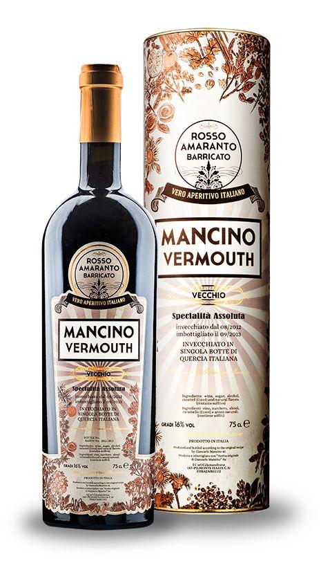 VECCHO - Questo straordinario Vermouth nasce come il Mancino Rosso Amaranto per poi riposare in una botte singola di quercia italiana per un anno. Il risultato e' il primo