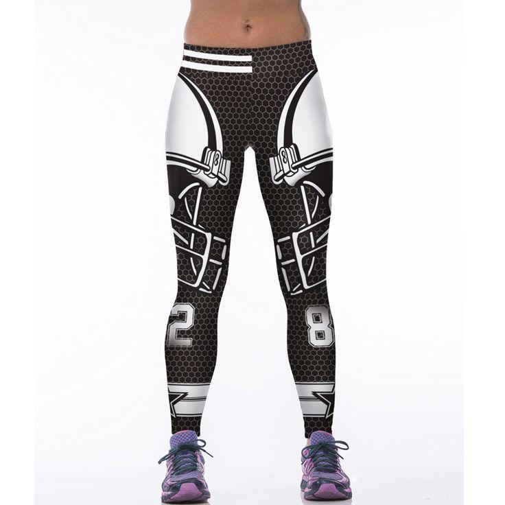 2017 Woman Yoga Pants Fitness Dallas Cowboys Leggings Sports Tights Trousers