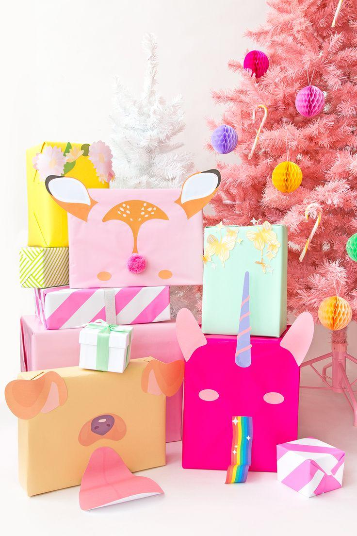 DIY Snapchat Filter Gift Wrap