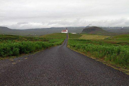 Ijsland, Kerk, Natuur, Landschap