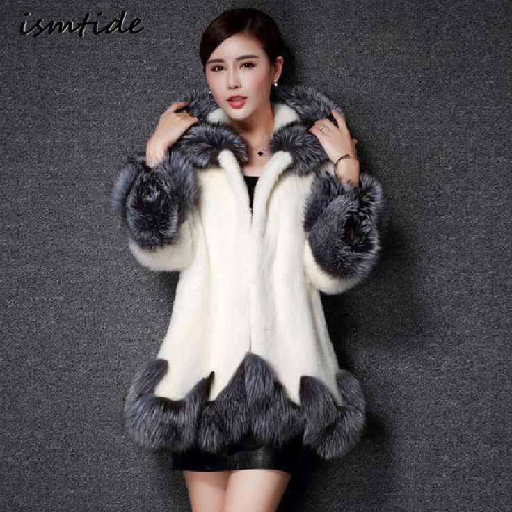 >> Click to Buy << Faux Fur Coat Hooded Parka White Jacket Women Faux Fur Coat Hooded Mink Fur Winter Warm Fox Collar Female Coat Long Plus Size #Affiliate