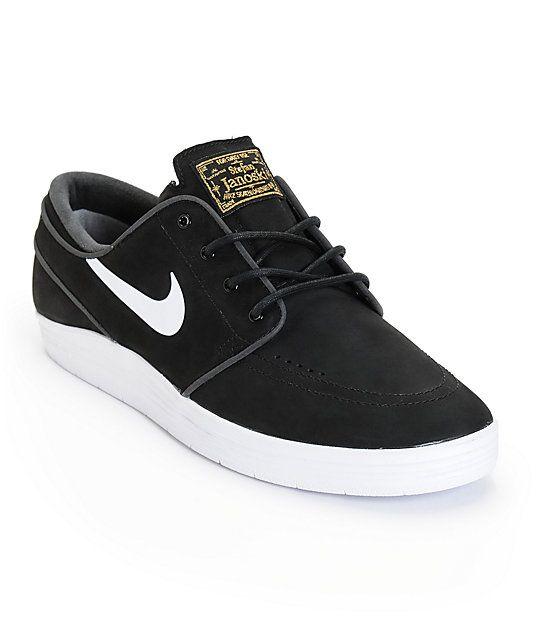 Nike SB Lunar Stefan Janoski Black \u0026 White Skate Shoes