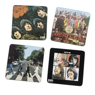 Love this idea! I want to make coasters of all my favorite album covers. Picture of Beatles Coasters: The Beatles Album Cover Coasters