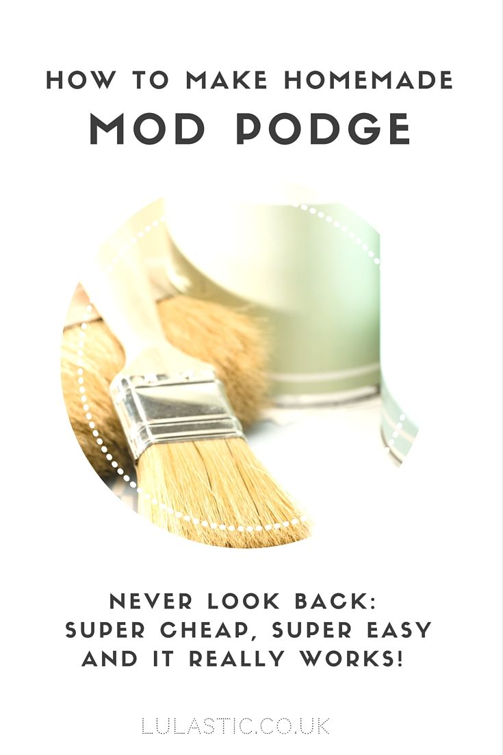 Homemade mod podge is super easy and very inexpensive to make with just TWO ingredients- but please make sure you use these proportions!