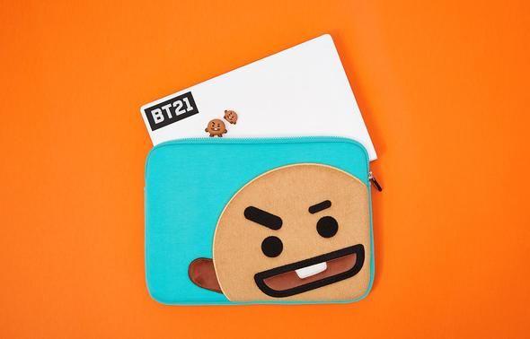 Bt21 shooky 13 inch laptop pouch