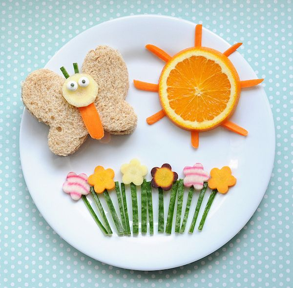 Healthy Summer Lunch For Kids … - Kids Snacks Cute Snacks, Cute Food, Good Food, Funny Food, Food Art For Kids, Cooking With Kids, Food For Children, Healthy Children, Children Health
