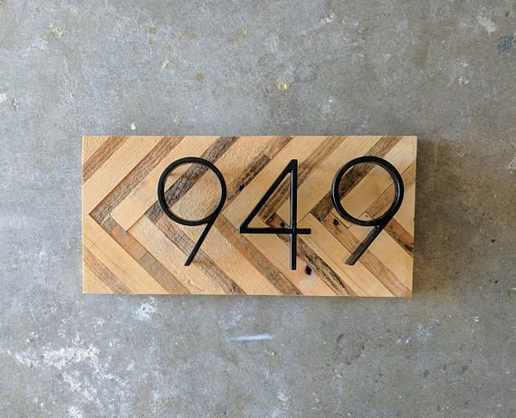 Thanks For Stopping By My Store Im So Glad Youre Here My Custom Made House Number Signs Are Individually Hand Modern Rustic House Numbers House In The Woods