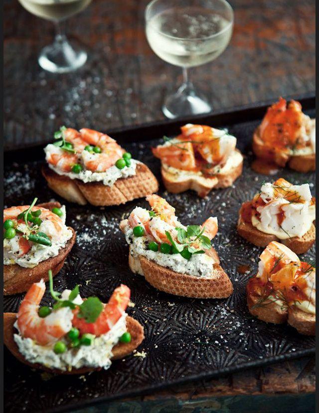 Recettes tartines salées crevettes