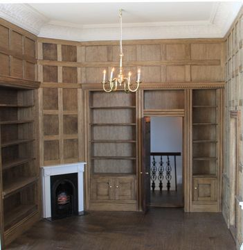 dolls house interior. Regency dolls house interior view of panelled library  86 best Dolls House images on Pinterest Dollhouses Doll
