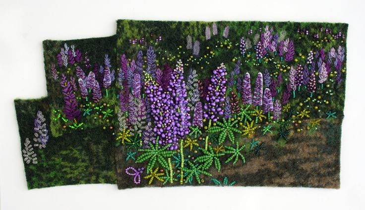 Jo Woods is one of my favorite bead artists and these lupines are an example of why. Wow!