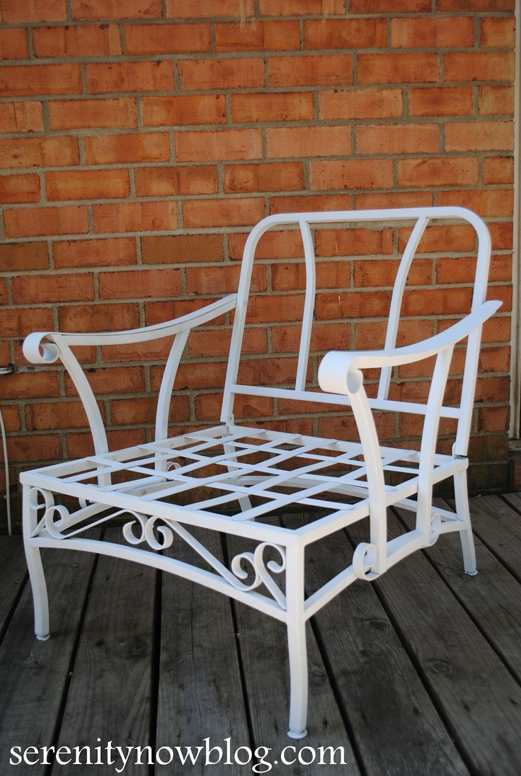Serenity Now: How to Clean and Paint Vintage Metal Patio Furniture