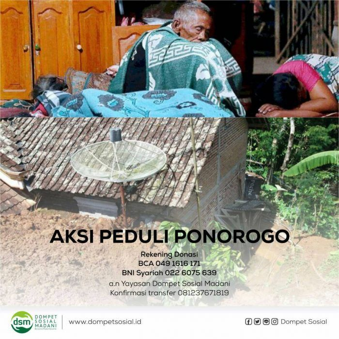 Bencana Longsor Saudara Kita di Ponorogo Butuh Bantuan  Telah terjadi tanah longsor Sabtu (01/04) Pukul 08.00 Wib di Desa Banaran Kec.Pulung Kab.Ponorogo. Dari 35 KK atau 128 orang yang terdampak langsung sebanyak 100 orang berhasil menyelamatkan diri dan 28 orang tertimbun longsor. Selain korban jiwa sebanyak 23 rumah juga mengalami rusak ringan rusak berat dan tertimbun longsor.  Personil SAR gabungan dari BPBD TNI Polri Basarnas Tagana PMI SKPD NGO relawan dan masyarakat terus melakukan…