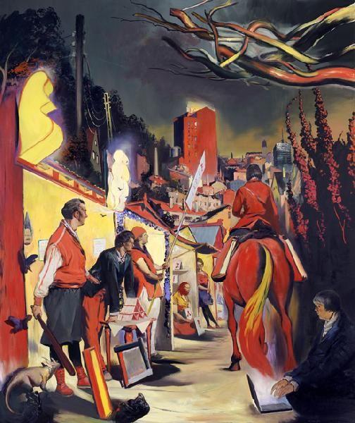 Galerie EIGEN+ARTNeo Rauch Abendmesse   2012 Öl auf Leinwand 300 x 250 cm