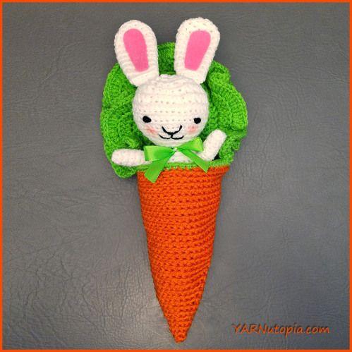 Crochet Tutorial: Bunny Amigurumi in a Carrot Cocoon | YARNutopia by Nadia Fuad