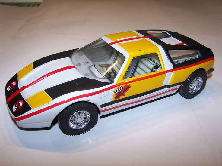 1970's JOUSTRA Mercedes C111 Tin Friction Rallye Car Made in France
