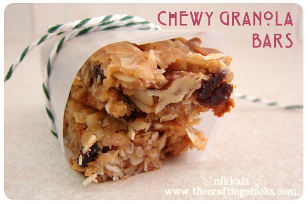 Easy chewy granola bars! Substitute add-ins to suit your families tastes! @thecraftingchicks