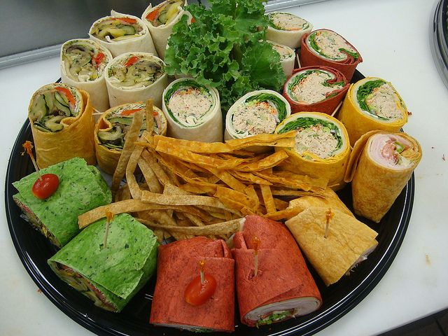 office meeting ideas. sandwiches and wraps for your next in-office meeting by saint germain catering, via office ideas