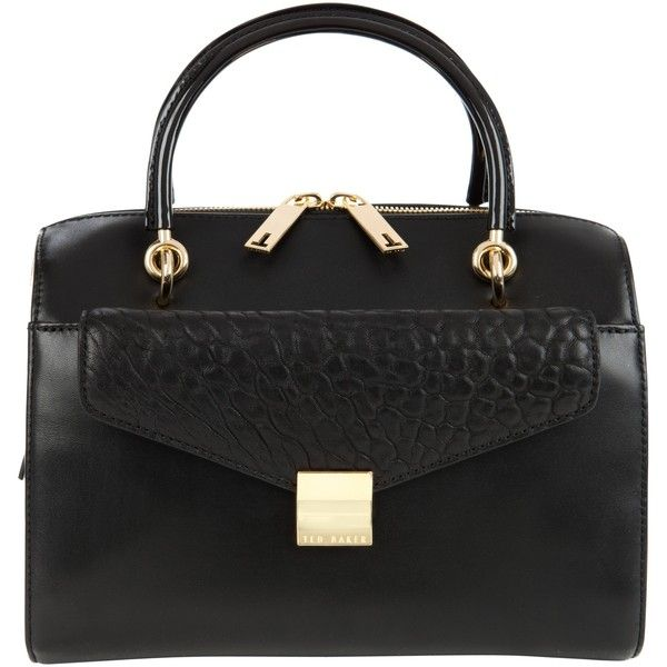 Ted Baker Bexie Three Way Across Body Leather Bag , Black (7.395 UYU) ❤ liked on Polyvore featuring bags, handbags, shoulder bags, black, cross-body handbag, hand bags, shoulder handbags, handbags crossbody and leather shoulder handbags