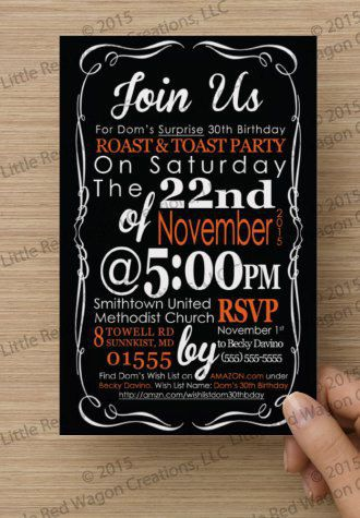 Comedy Roast and Toast Adult Birthday by LRWCreationsLLC on Etsy