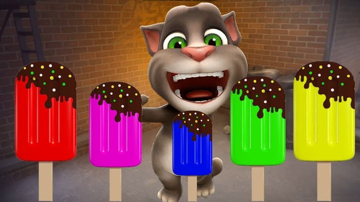 Baby learn colors ice cream with my talking tom cat compilation videos  ...