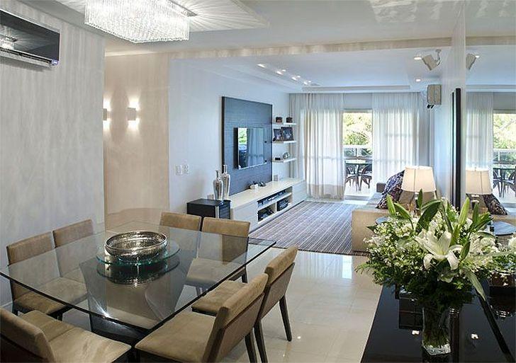 Salas de estar e jantar integradas 5