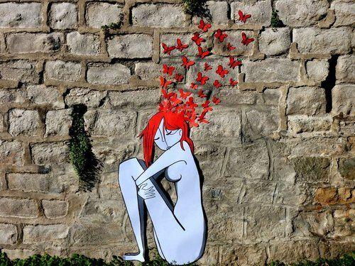 Million of ideas, feeling overwhelmed  #ideas #art #butterflies #red