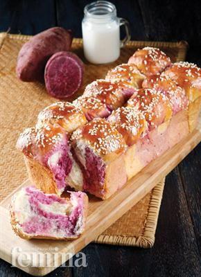 Femina.co.id: Roti Sobek Ubi Ungu #resep