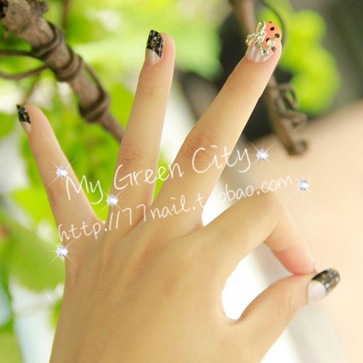 Aliexpress.com : Buy 24 false nail . powder black , honey from Reliable matte nail polish suppliers on Jessie's shop. $7.38