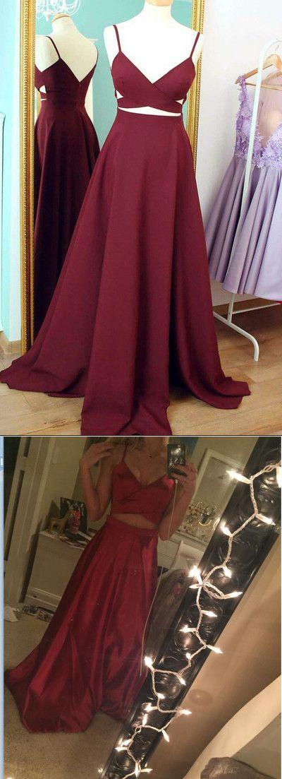 2017 prom dress, long prom dress, burgundy prom dress, formal evening dress, cheap prom dress