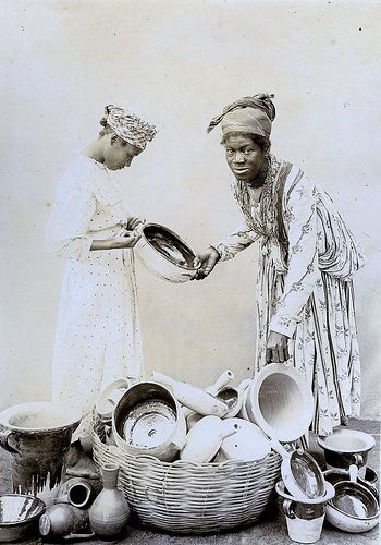 Pottery Seller, Pointe-a-Pitre, Guadeloupe