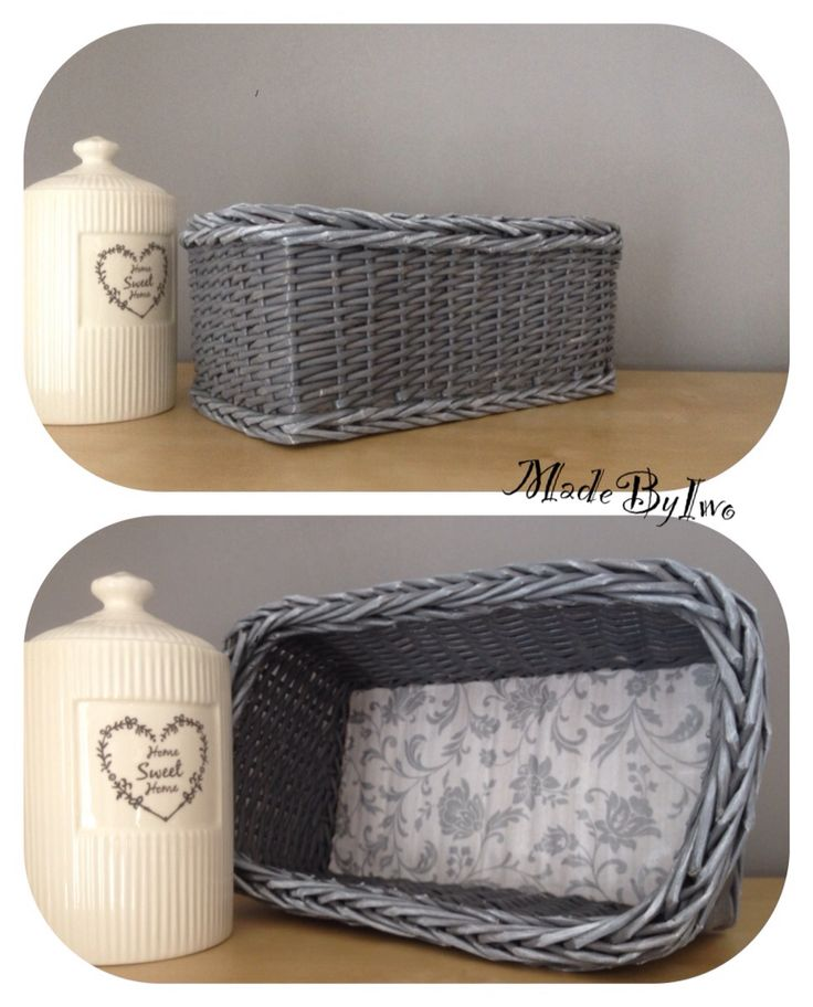 Simple grey paper rolls basket