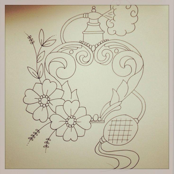 Vintage perfume bottle tattoo sketch Tattoos Perfume