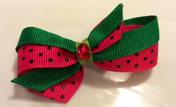 Dog hair bow accessory grooming ribbon ear bow top by CreateAlley, $4.99