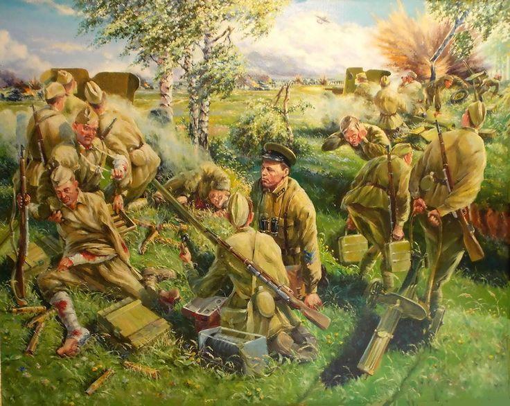 чтото военная живопись картинки хотелось