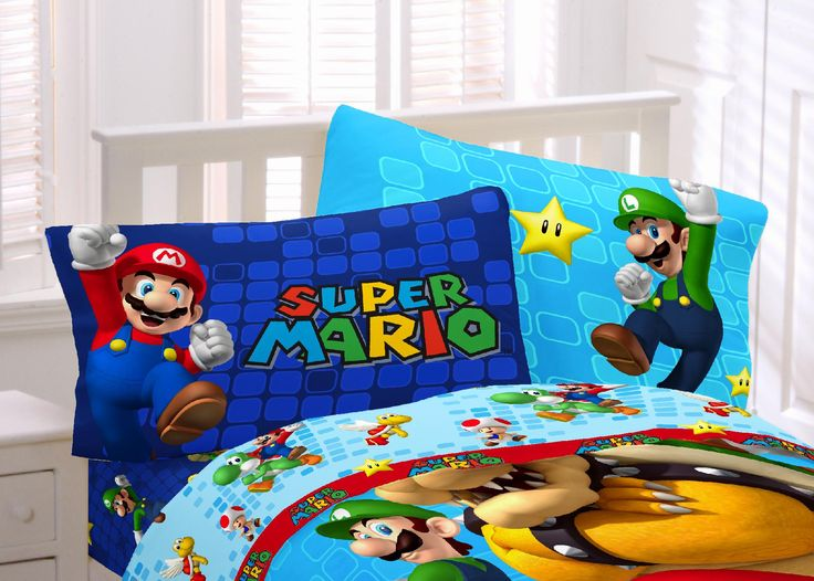 Nintendo Mario Pillowcase - reversible (Luigi on other side) - $7.99 use code HOME10 for additional 10% off