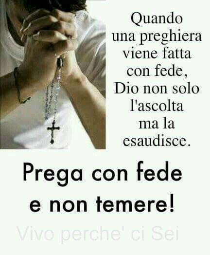 Prega con fede..