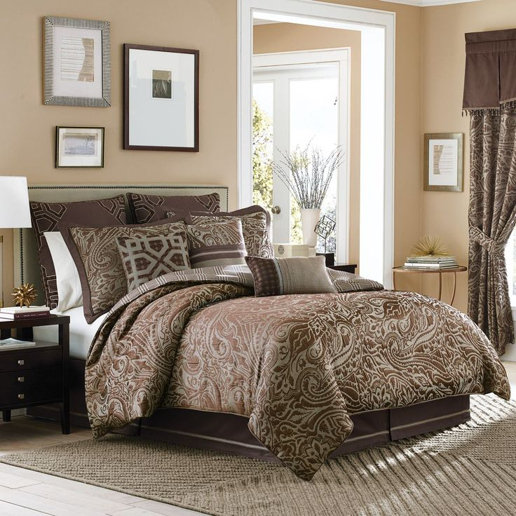 The Sancerre Bedding Collection By Croscill Features A Handsome Paisley  Pattern On A Herringbone Ground In