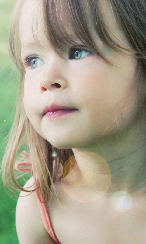 480x800 Wallpaper sad girl, sad, children, beautiful, childhood, child