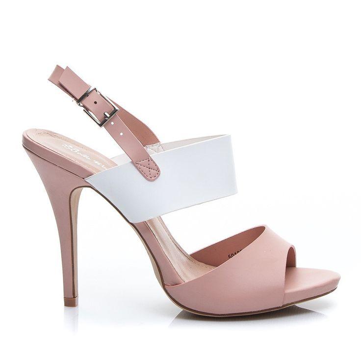 Różowe efektowne sandały wiosna lato - odcienie różu