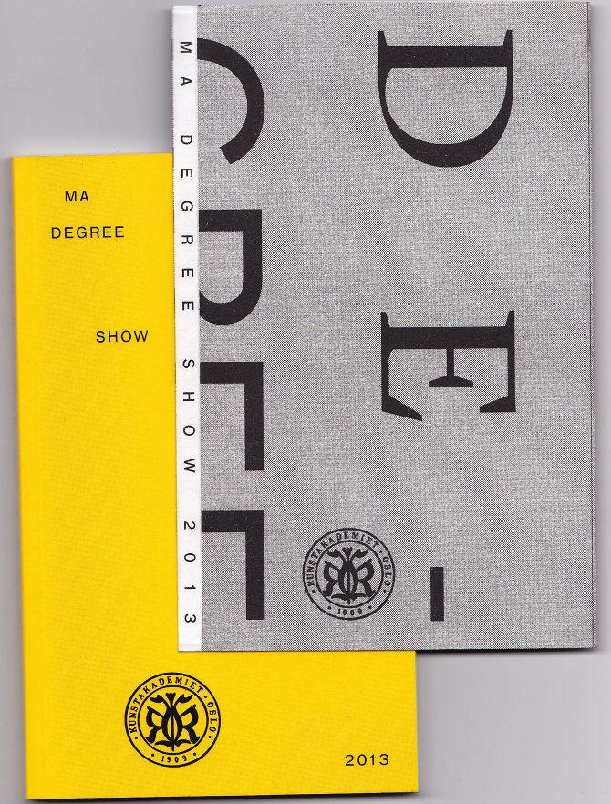 MA Degree Show Catalogue - Kaja van Domburg