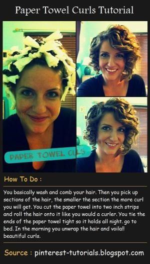 Paper Towel Curls | Beauty Tutorials by gwen