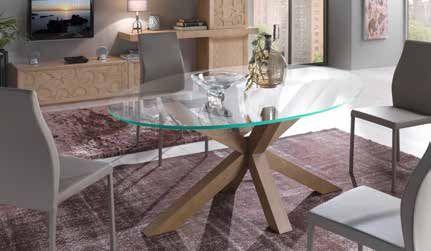 Tavolo moderno gambe legno piano cristallo #cristallo #tavolo