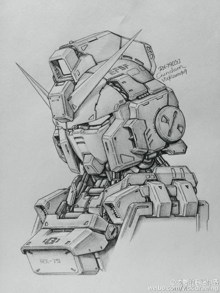 GUNDAM GUY: Awesome Gundam Sketches by VickiDrawing [Updated 9/22/15]