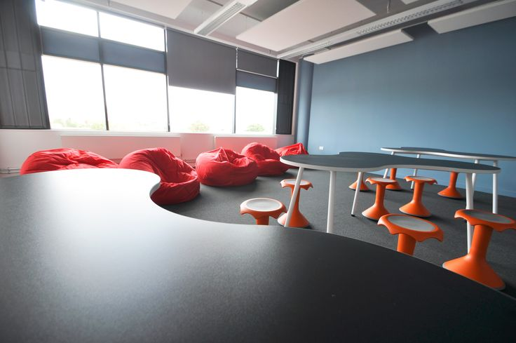 Cardiff & Vale College: Canal Parade. VS Hokki stools and Puzzle tables