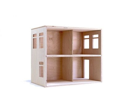 Puppenhaus, Puppenvilla, Bausatz aus Holz